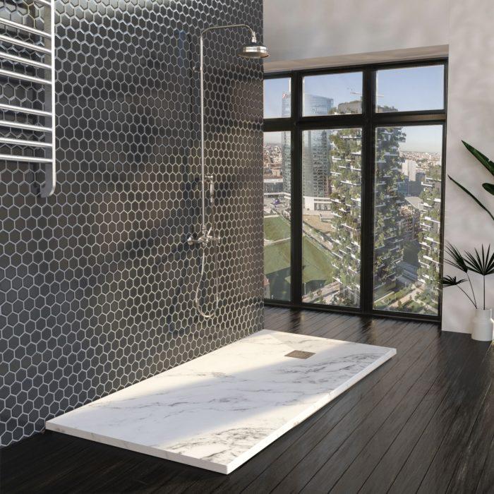 marbre dans la salle de bain